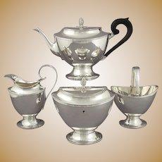 Dutch Sterling Silver Tea Set