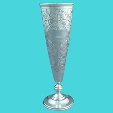 Antique Russian Silver Bud Vase