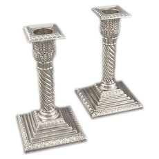 Pair of Victorian Sterling Silver Candlesticks