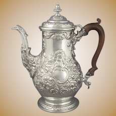 George IV Sterling Silver Coffee Pot