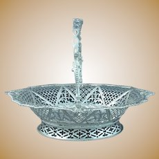 George III Rococo Silver Cake Basket