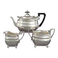 Edwardian Sterling Silver Tea Set