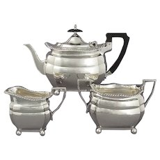 Edwardian Sterling Silver Tea Set