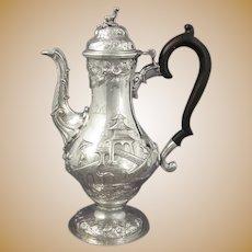 George III Chinoiserie Silver Coffee Pot