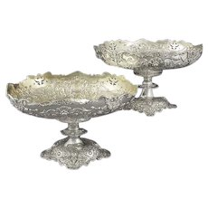 Ornate Sterling Silver Dessert Stands