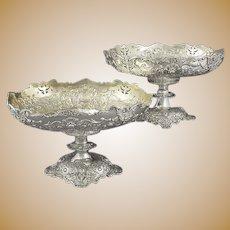 Ornate Sterling Silver Dessert Stands