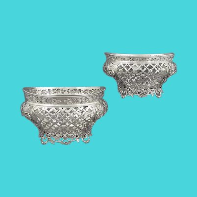 Pair of Victorian Sterling Silver Baskets