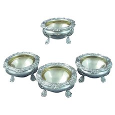 Set of Four William IV Sterling Silver Salts