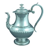 Scottish Silver Coffee Pot
