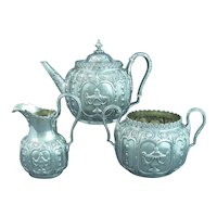 Ornate Victorian Sterling Silver Tea Set