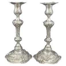 Rococo Sterling Silver Candlesticks