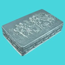 Figural Sterling Silver Jewellery Box