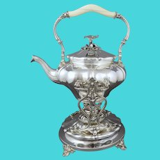 Christofle Silver Kettle on Stand