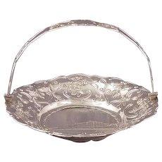 Nathaniel Mills Castle Top Silver Basket