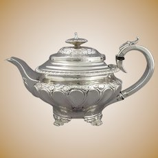 Small Antique Sterling Silver Teapot