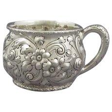 Repoussé Sterling Silver Mug