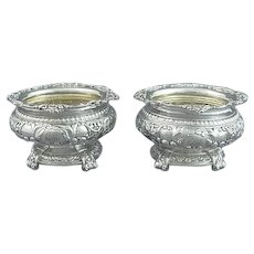 Pair of Sterling Silver Open Salts by Gorham