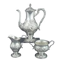 Kirk Repousse Sterling Silver Coffee Set
