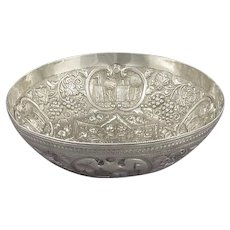Turkish Ottoman Silver Bowl