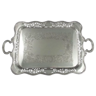 Antique English Sterling Silver Tea Tray