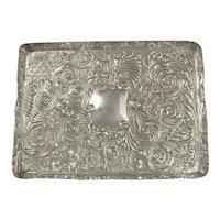 Victorian Sterling Silver Dressing Table Tray