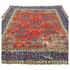Vintage Rug, 8' 5 x 9' 11 Red Persian