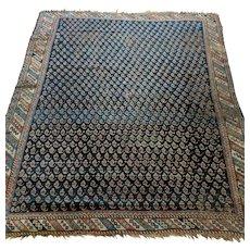 Vintage Rug 4' 9 x 5' 9 Blue Persian