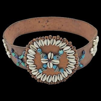 Vintage Leather Moroccan Belt