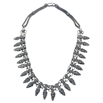 Handmade Silver and Mixed Metal Moroccan Necklace