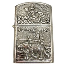 Vintage Thai Sterling Silver Lighter