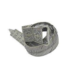 Vintage Indian Silver Belt