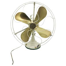 Vintage Iconic Electric GE Brass Fan