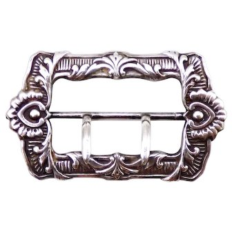 Antique Circa 1915 Frank Whiting sterling silver buckle