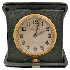 Vintage Waltham 8 day Travel Clock