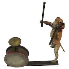 Franz Bergman Cold Painted Vienna Bronze - The Drummer Dog - Dachshund