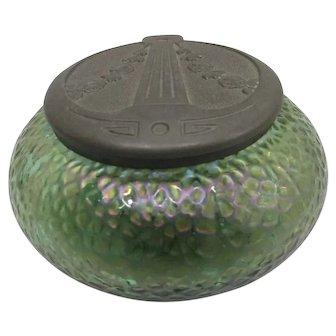 Rare Rindskopf Desk Tidy Iridescent Glass