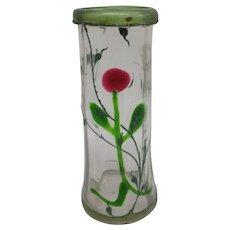 Moser Marquetry Glass Vase with Engraved Insects