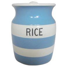 Cornishware Vintage Rice Storage Jar