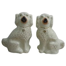 Staffordshire Spaniel Dogs 19th Century Pottery