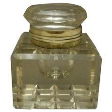 Large Vintage Glass InkWell Circa 1890 - 1910