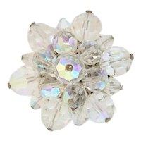 Vintage Crystal Aurora Borealis Pin