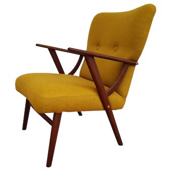Danish designed armchair, 60's, teak wood, completely restored