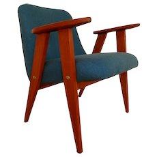 Lounge chair, KVADRAT wool by Akira Minagawa, 60's