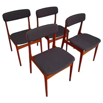 Danish design, dining chairs, teak frame, 60s, completely restored