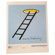 Mark Mothersbaugh Limited Edition SIGNED 130 out of 200 'Ladder to Heaven' LA Art Show Modern & Contemporary Art Poster Print
