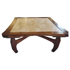 Cocobolo Coffee Table by Don Shoemaker, With Breccia Marble top 1950s, Senal, Mexico