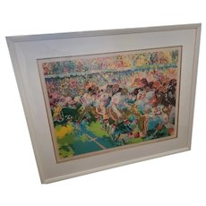 """LeRoy Neiman Limited Edition Serigraph """"Silverdome Superbowl"""" hand signed, 1982 only 359 Impressions- 31 colors"""