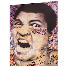 "Signed Mr. Brainwash "" MUHAMMAD ALI "" Authentic Lithograph Print Pop Art Poster signed in Black Sharpie"