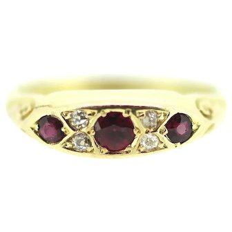 Edwardian Ruby Diamond Wedding / Eternity Ring