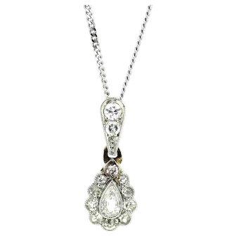 Petite Victorian Old Cut Diamond Pendant